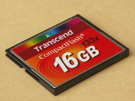 Transcend 16GB CF CARD (133X、 TYPE I ) TS16GCF133<BR>トランセンド・ジャパン