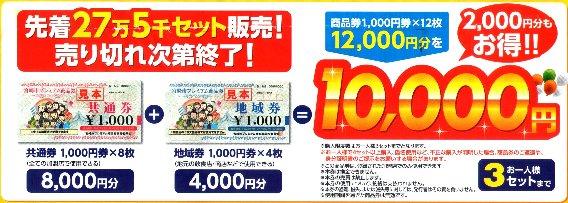 「宮崎市プレミアム商品券」チラシより一部ピックアップ