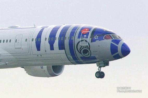 STAR WARS(スターウォーズ) 特別塗装機 R2-D2 ANA JET 宮崎空港 3