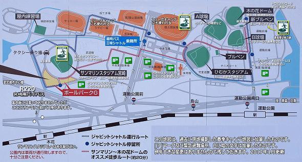 KIRISHIMAヤマザクラ宮崎県総合運動公園マップ