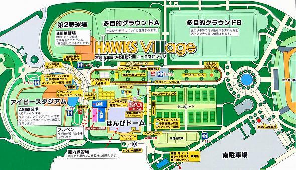 生目の杜運動公園 ホークスキャンプ 2017 配置図