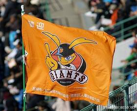 巨人歓迎フラッグ サンマリンスタジアム宮崎にて