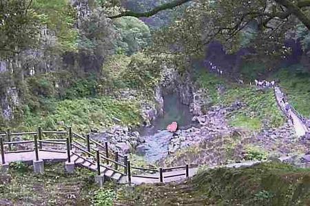 高千穂峡 ハートの石