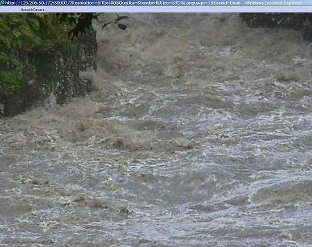 増水した高千穂峡(ライブカメラ映像) 06
