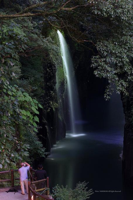 高千穂峡ライトアップ 2013年 08