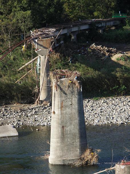 台風14号被害 高千穂鉄道陸橋