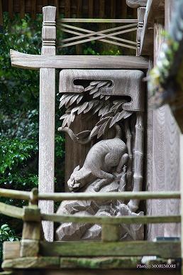 上野神社(高千穂町)本殿の彫刻 左側