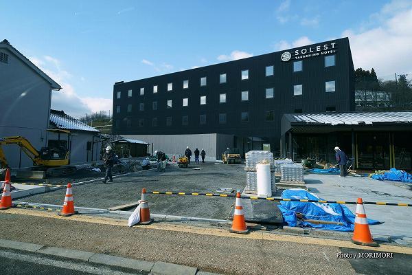 ミネックス」(宮崎市)が建設中の「ソレスト高千穂ホテル」