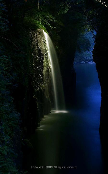 高千穂峡ライトアップ
