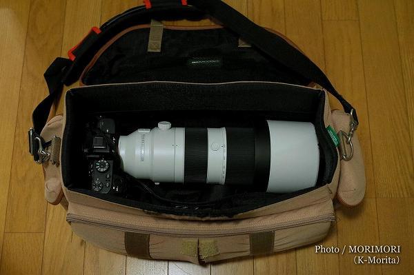 FE 200-600mm F5.6-6.3 G OSS SEL200600G 収納チェック ショルダータイプのカメラバック