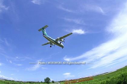 ORC415 DHC8 長崎便 (フィッシュアイレンズで撮影)