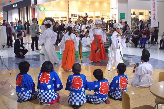 イオンショッピングモール宮崎にて 大河内小学校 椎葉神楽