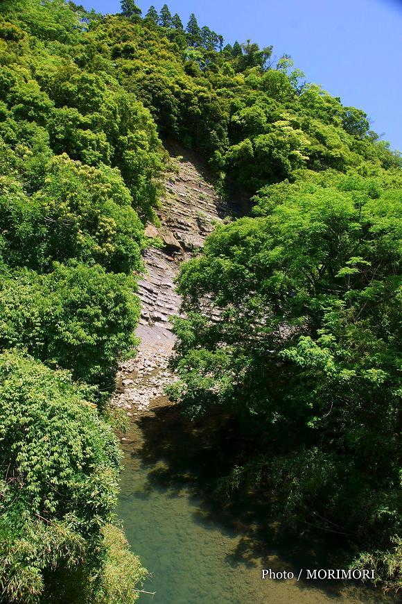 砂岩泥岩互層 宮崎市 国道220号 地福川付近 1