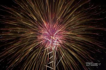 水平線の花火と音楽4 花火の写真 08