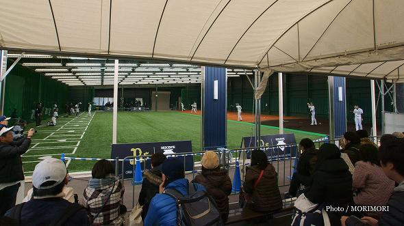 ブルペン オリックス・バファローズ 宮崎キャンプ 2017 にて