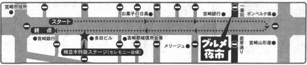 2018年春季 宮崎市 ホークスパレード コース
