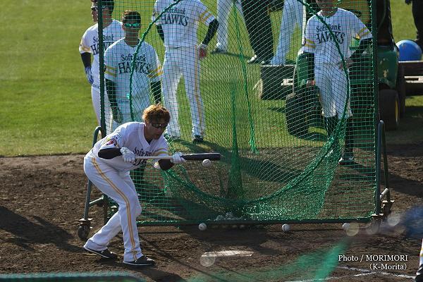柳田外野手 ソフトバンクホークス 2019年春季宮崎キャンプにて