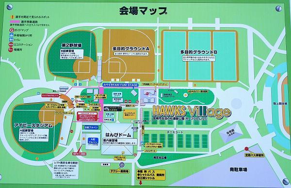 ソフトバンクホークス 2019年春季宮崎キャンプ 会場図