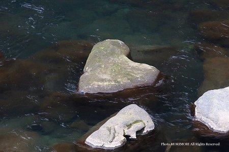 ハートの石 拡大 高千穂峡