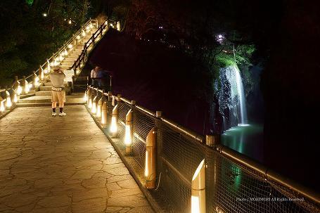 高千穂峡ライトアップ 2013年 07