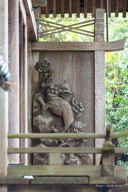 上野神社(高千穂町)本殿の彫刻 右側