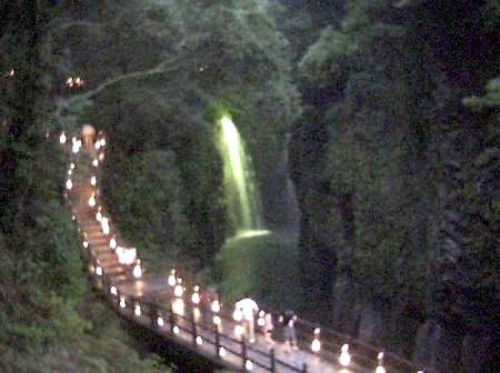 高千穂峡 ライトアップ 2011年