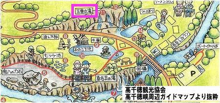 地図 玉垂の滝
